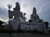 Shiva Parvati statue Kailasagiri